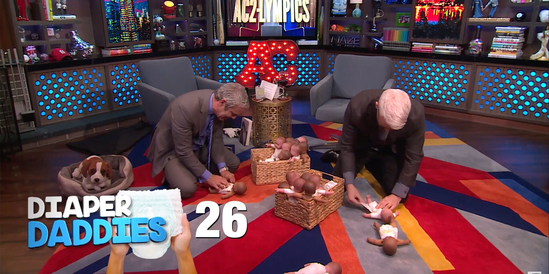 Andy Cohen and Anderson Cooper Face Off in Diaper Changing Competition — See Which Dad Wins!.jpg