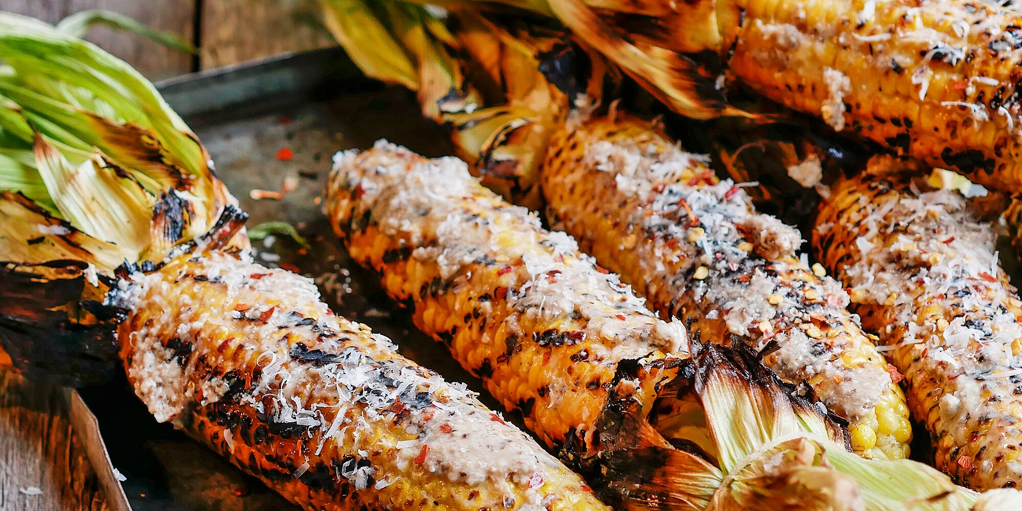 Grilled Corn with Mushroom-Miso Butter
