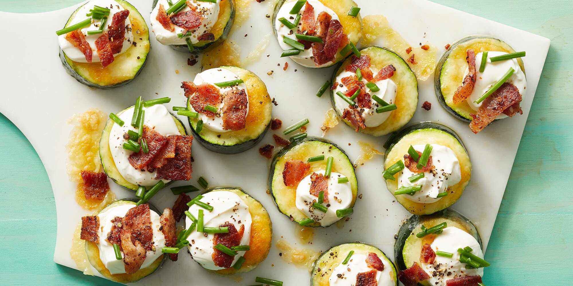 Loaded Zucchini Bites
