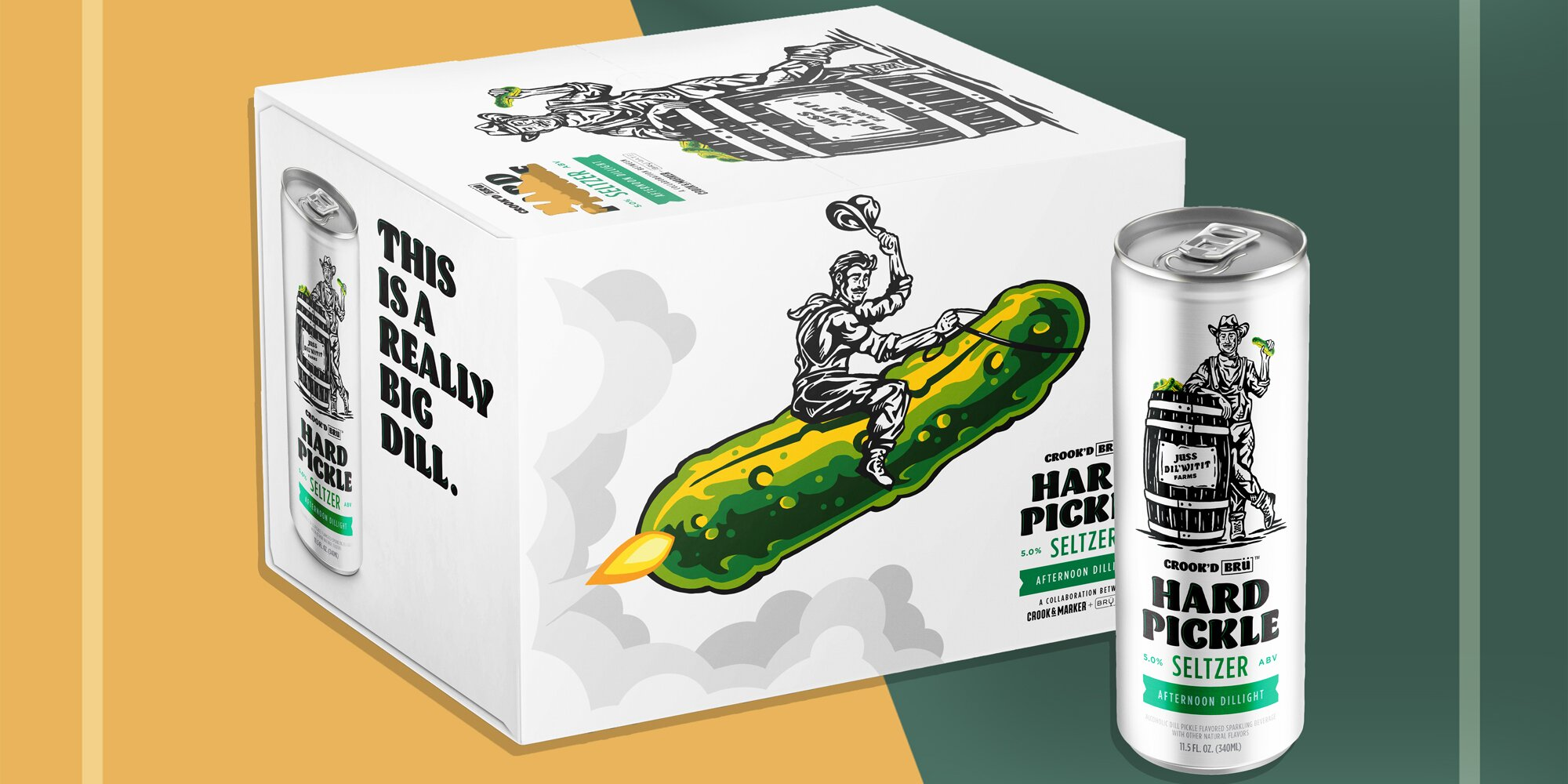 Pickle Hard Seltzer Goes from April Fool's Joke to Reality