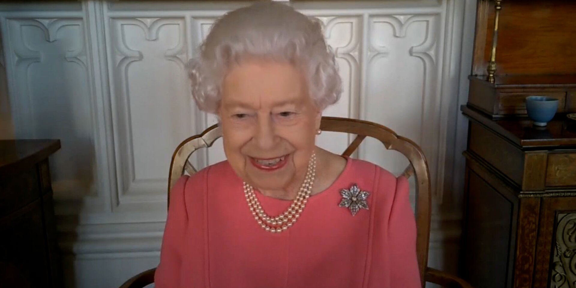 Queen Elizabeth, Seen for First Time Since  Philip's Hospitalization, Speaks of Her COVID Vaccine.jpg