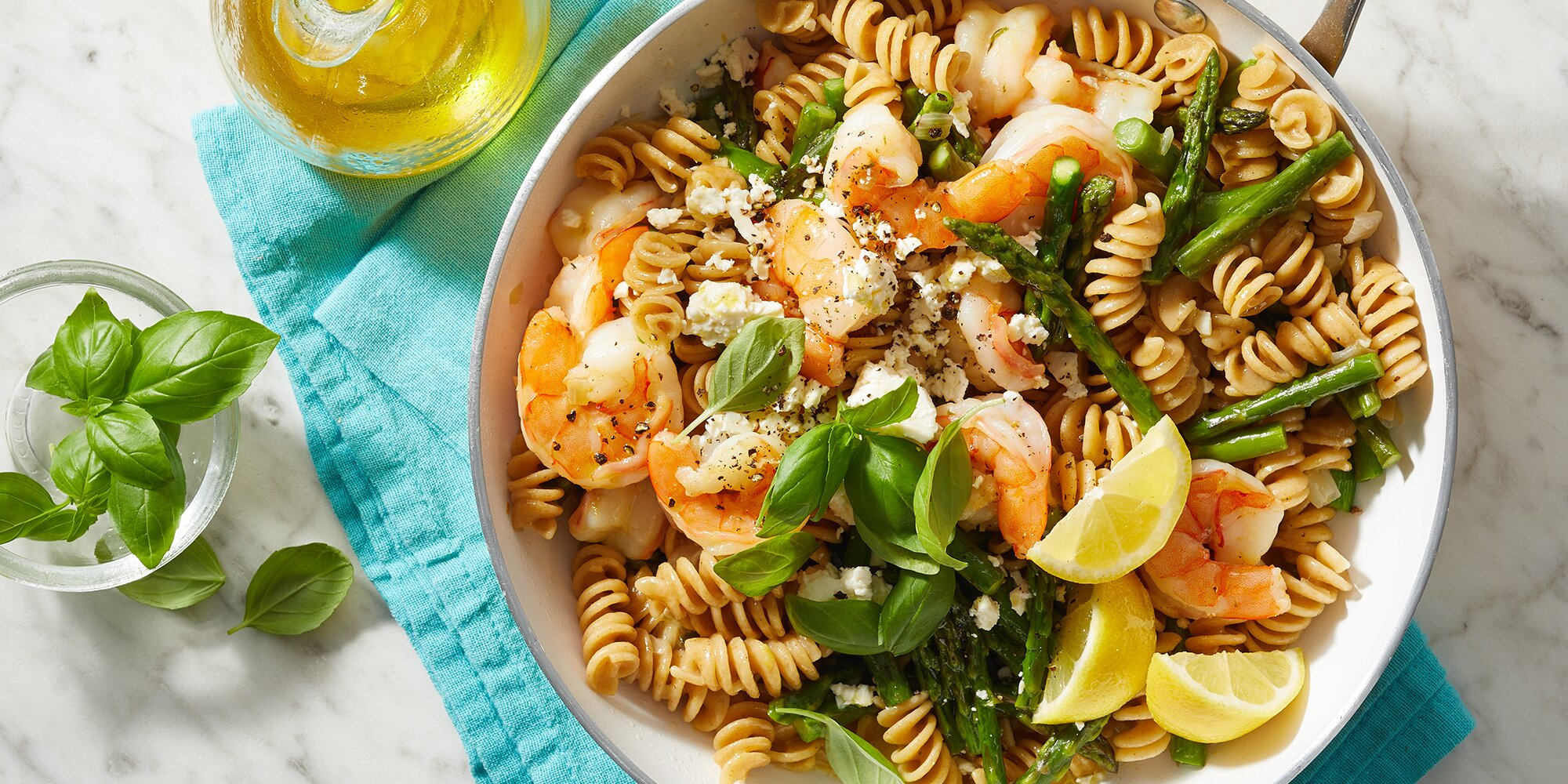 One-Pot Lemon Asparagus Pasta with Shrimp