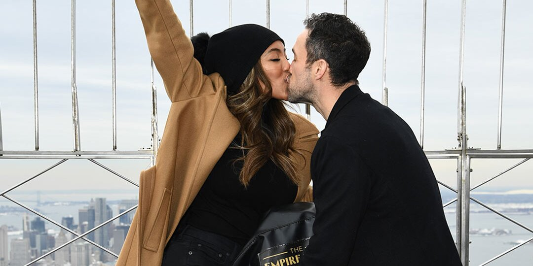 Tayshia Adams and Zac Clark Celebrate First Valentine's Day Together: 'On Top of the World'.jpg