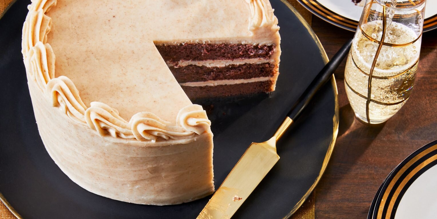 Bourbon-Chocolate Cake with Browned Buttercream Frosting