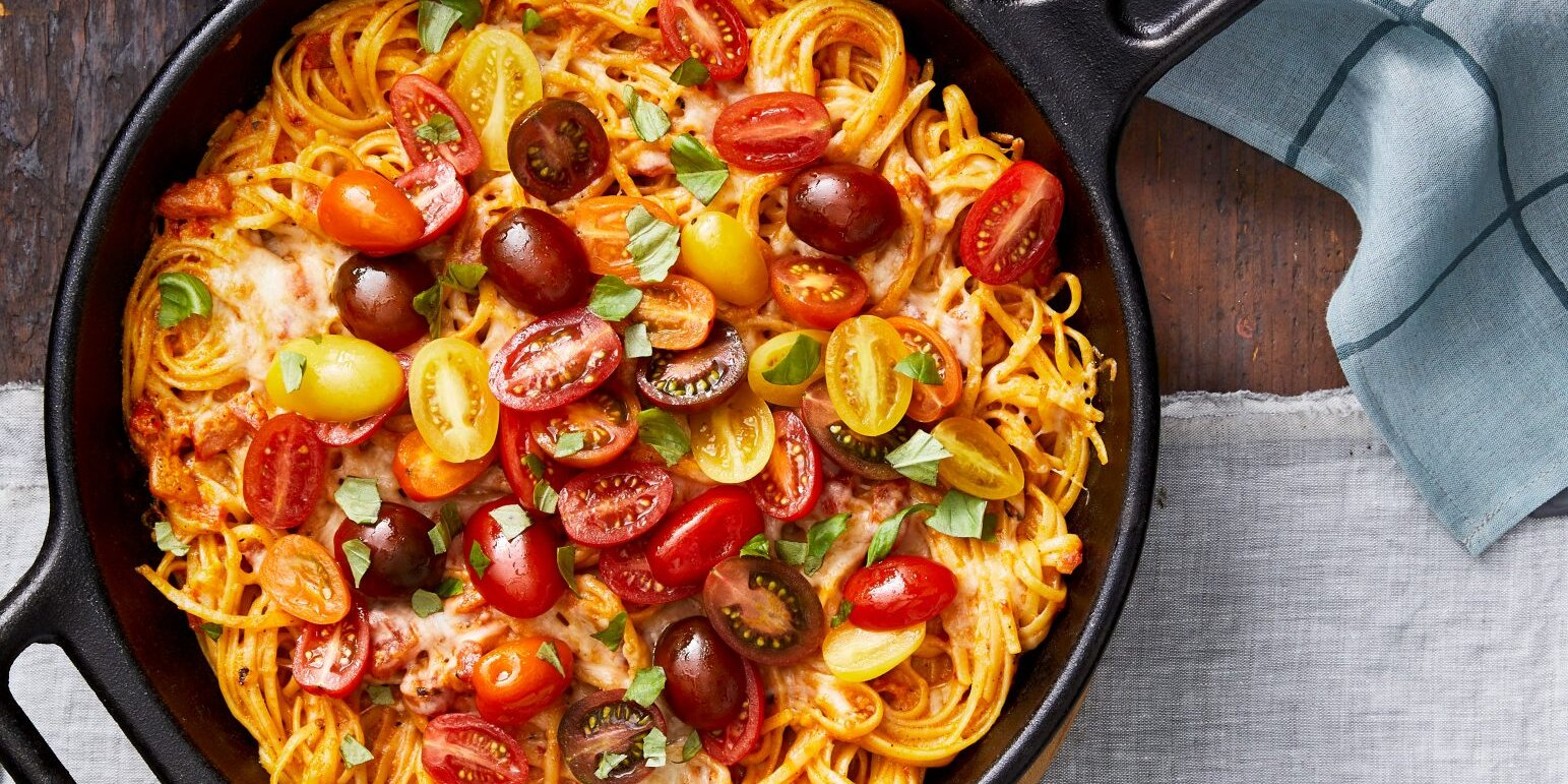 Baked Linguine With Spicy Tomato-Cream Sauce