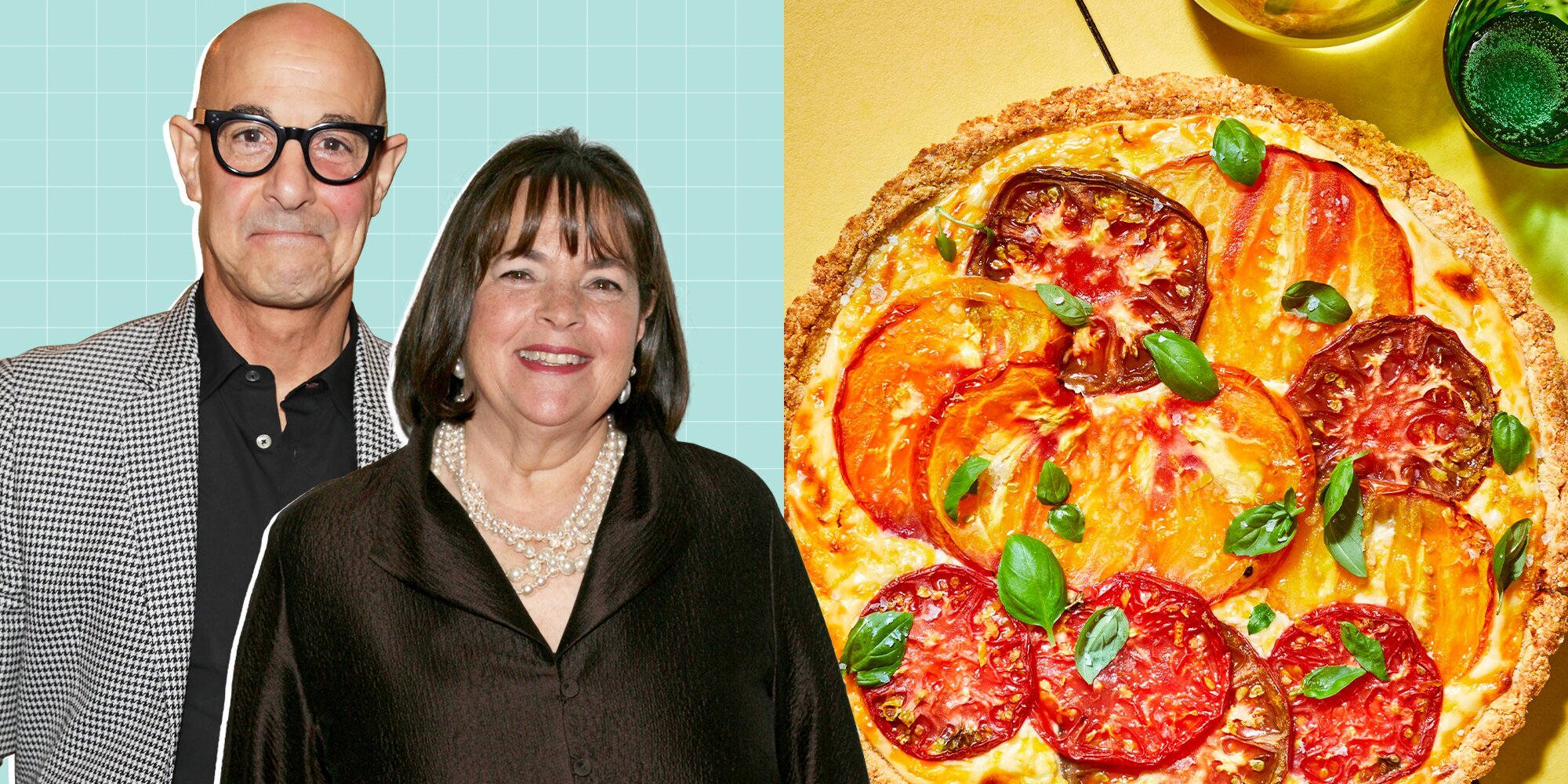 Stanley Tucci Made Ina Garten's Tomato & Goat Cheese Crostata—and We're Making It ASAP