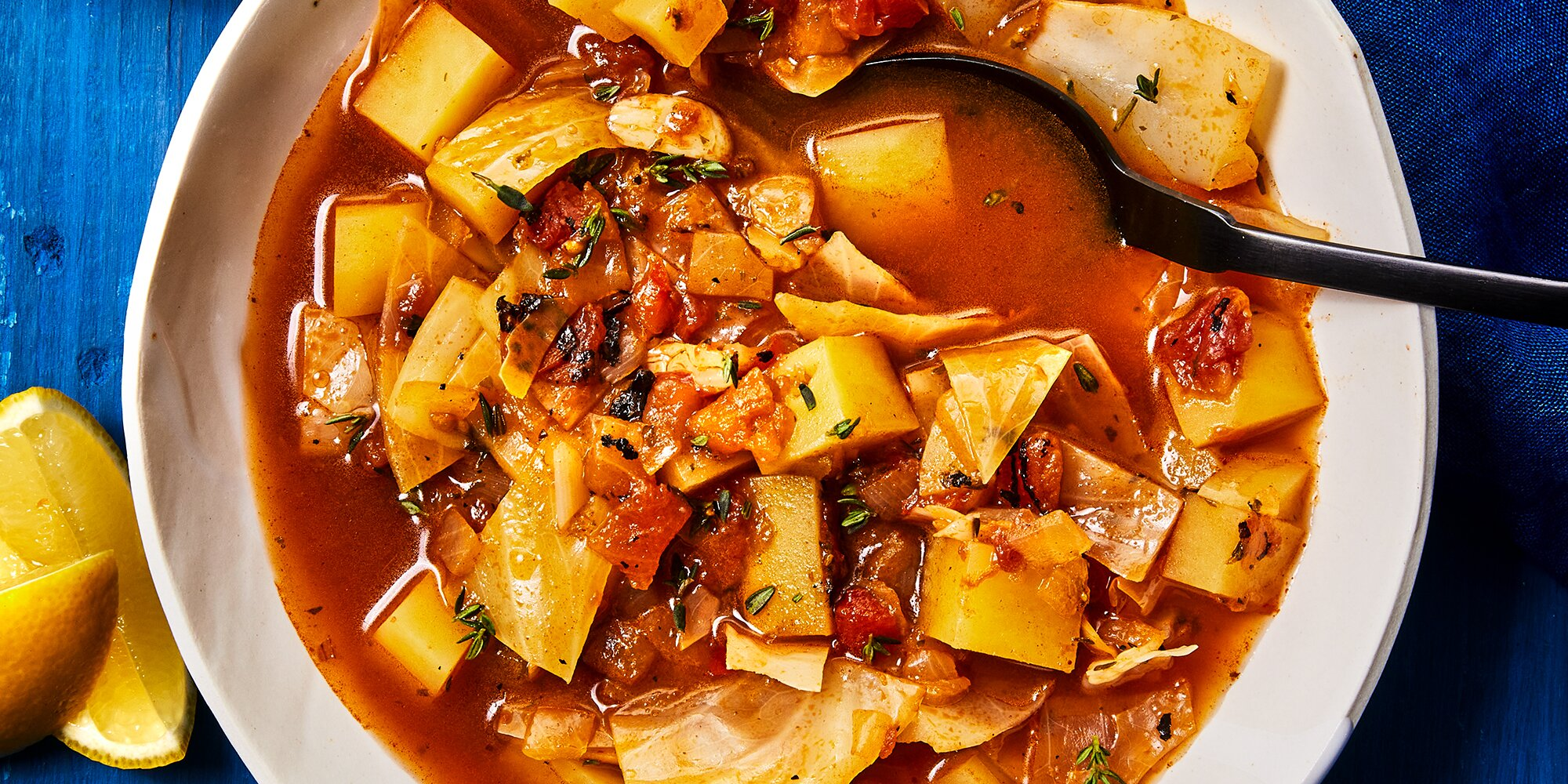 One-Pot Vegetable Soup with Cabbage