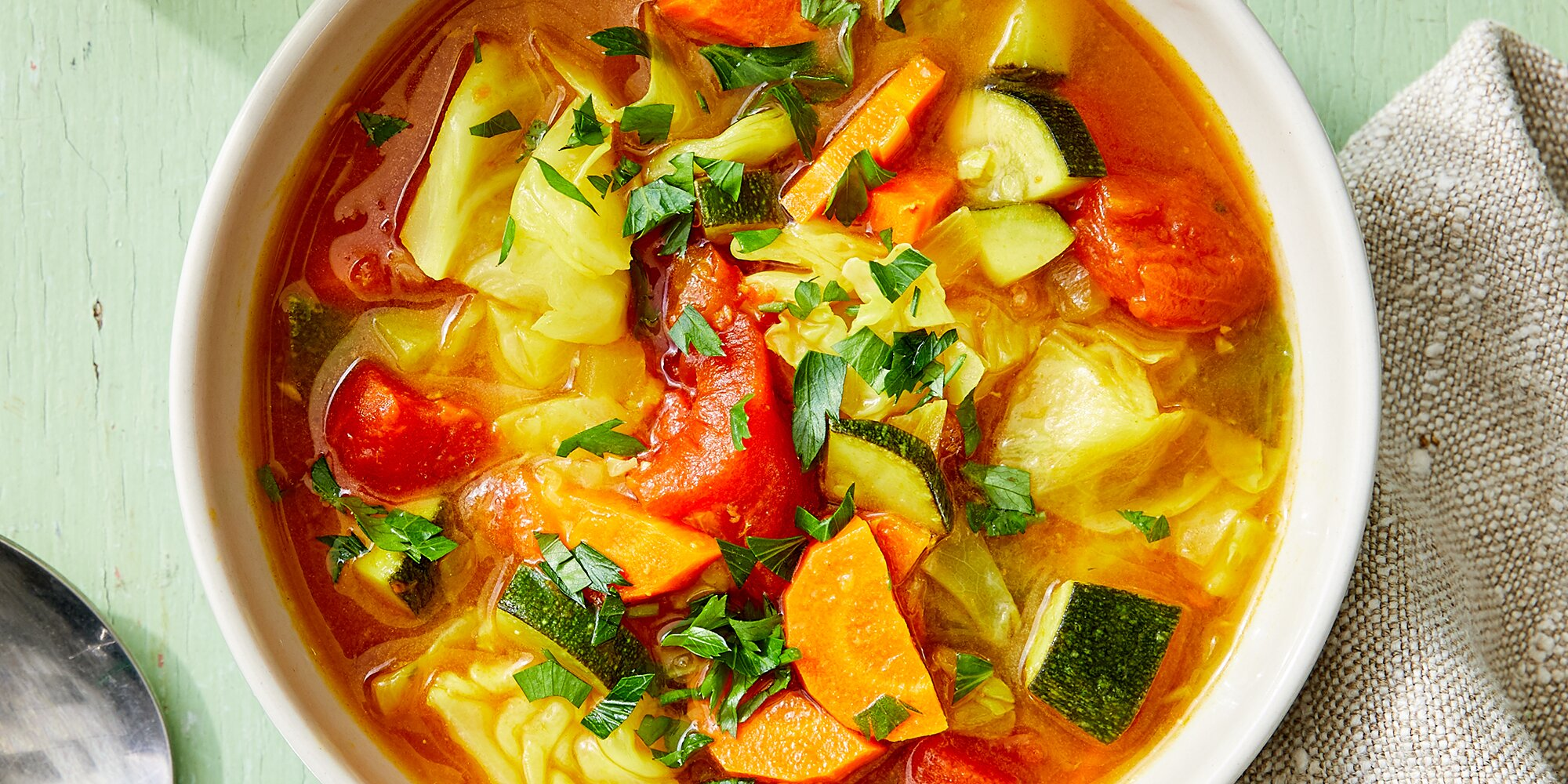 Comforting Cabbage Soup with Ginger