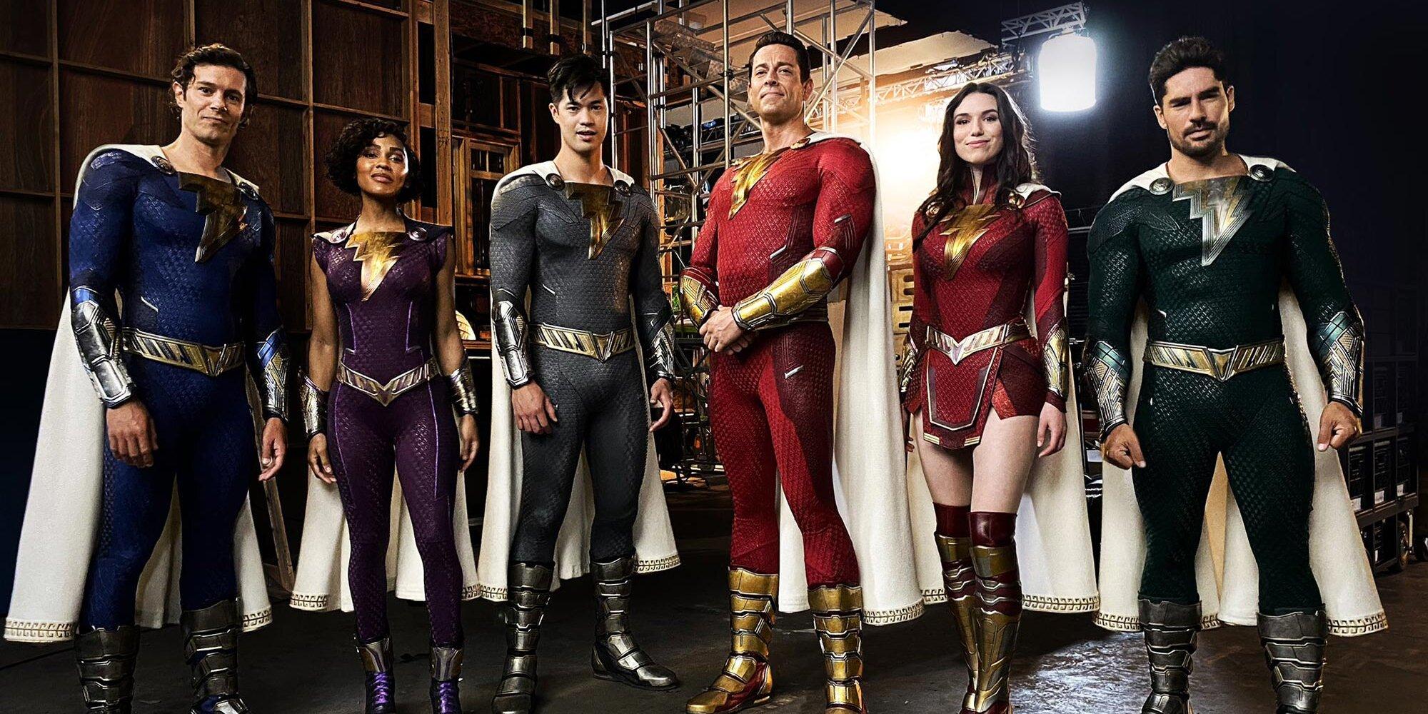 Shazam! Fury of the Gods director unveils sequel's new superhero suits | EW.com - EW.com