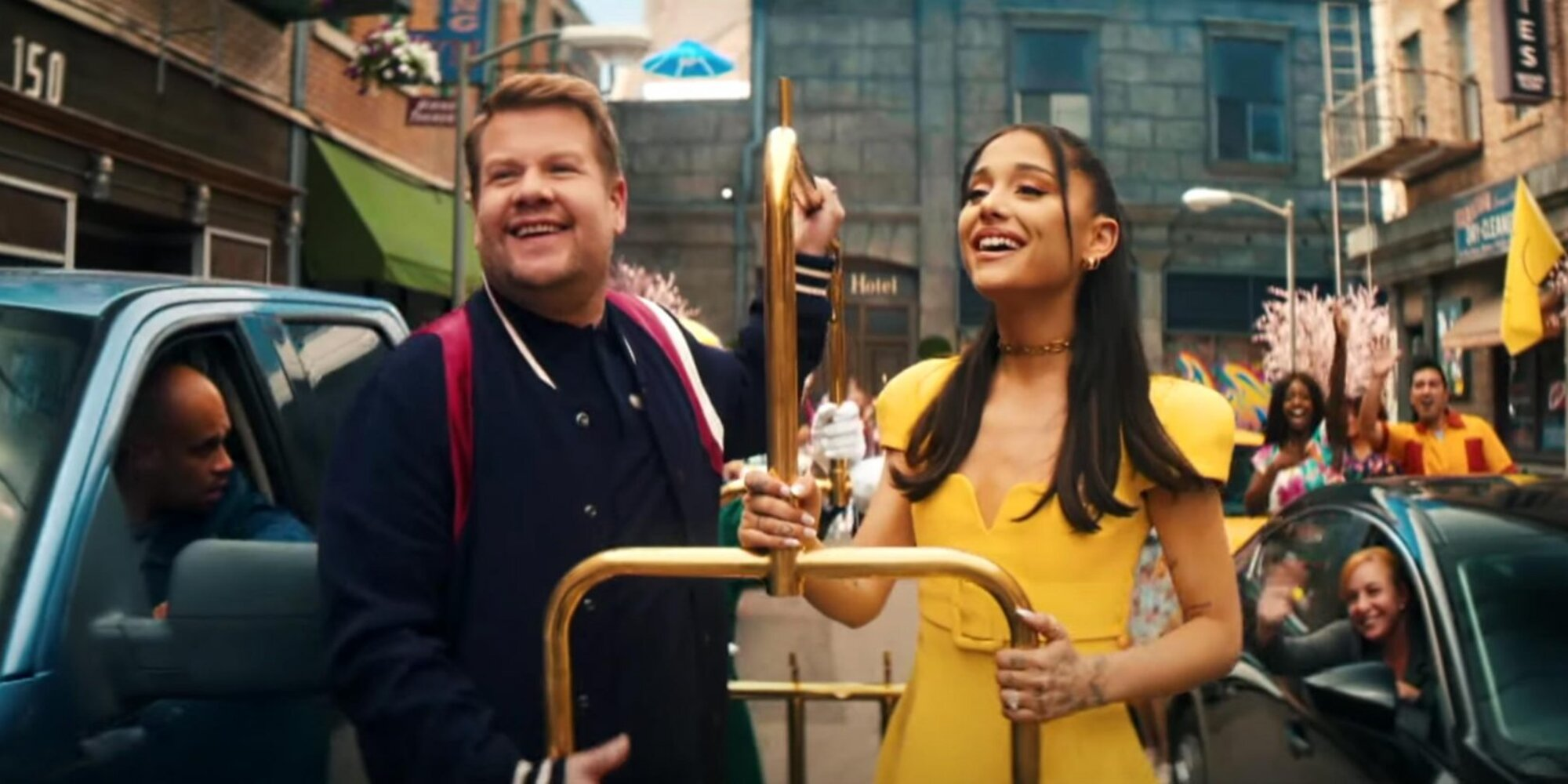 Ariana Grande and James Corden celebrate 'no lockdowns anymore' with full-scale musical.jpg