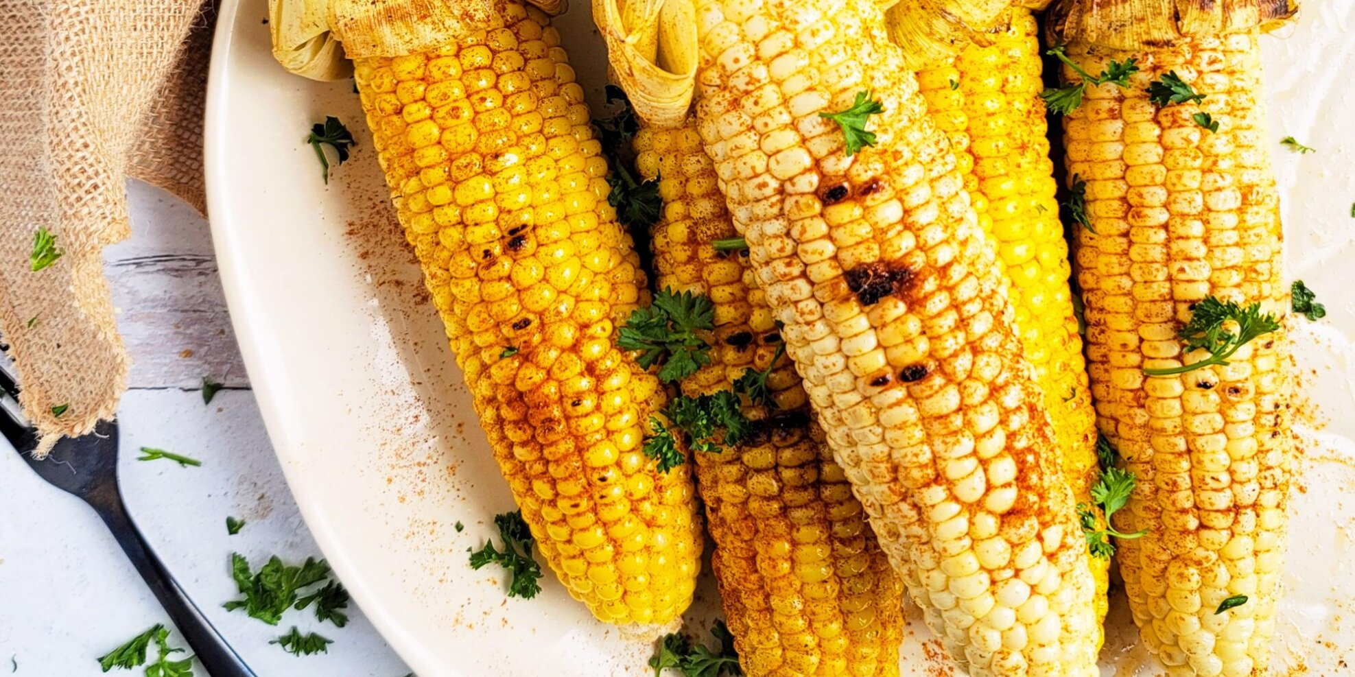 Spicy Grilled Corn on the Cob