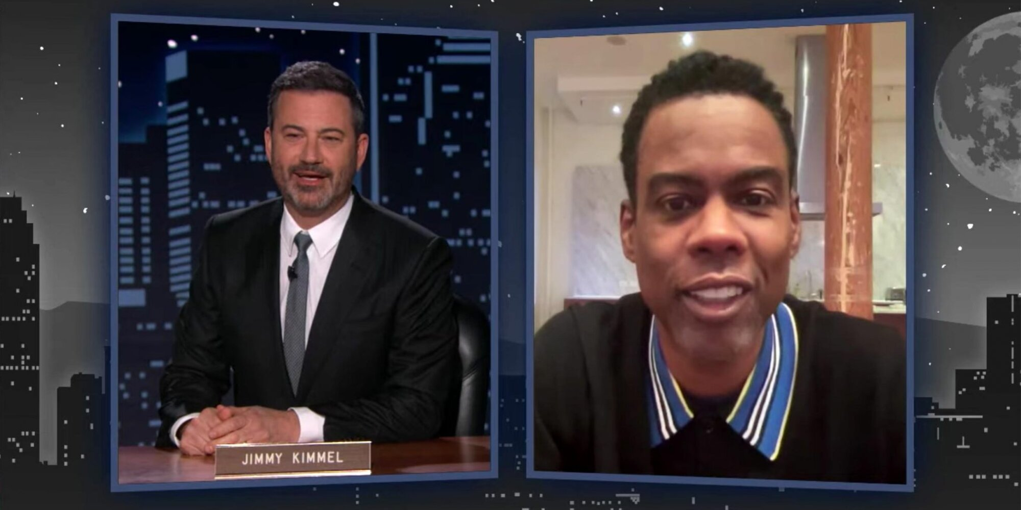 Jimmy Kimmel and Chris Rock bond over not hosting the Oscars this year: 'Wasn't me!'.jpg