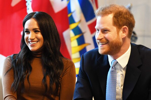 Prince Harry, Duke of Sussex and Meghan, Duchess of Sussex arrive at Canada House on January 07, 2020 in London, England