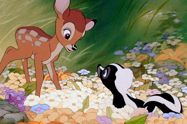 BAMBI, Bambi, Flower, 1942. © Walt Disney / Courtesy: Everett Collection