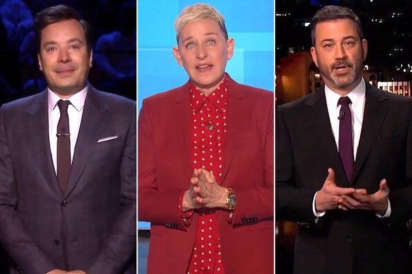 Jimmy Fallon, Ellen Degeneres, Jimmy Kimmel