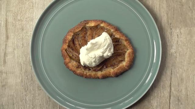 Coffee-Dusted Pear Galette