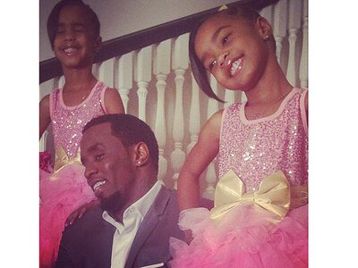 cd62a57c7 So Sweet! Diddy Takes His Twins to Their First Dance | PEOPLE.com
