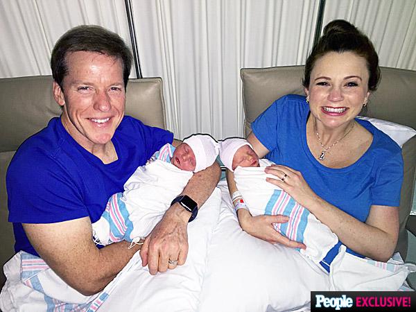 Jeff holding James, Audrey holding Jack - Courtesy Dunham Family