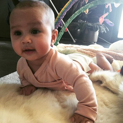 f9f337bf2f Is That Luna or John Legend in a Diaper? Chrissy Teigen Shares Adorable  Pics of Daughter Looking Just Like Her Dad