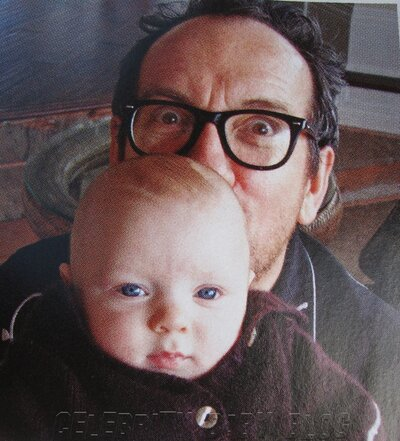 Elvis Costello and Diana Krall introduce their twins, Dexter