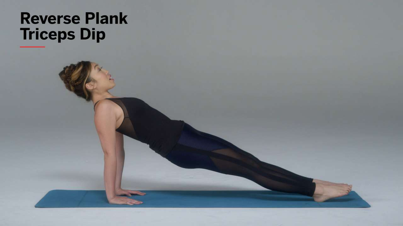 Reverse Plank Triceps Dips