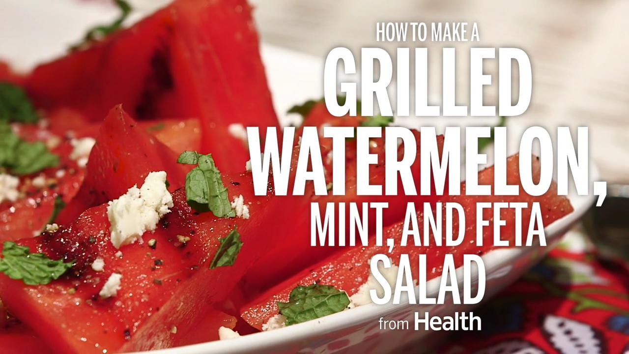 Grilled Watermelon, Mint, and Feta Salad