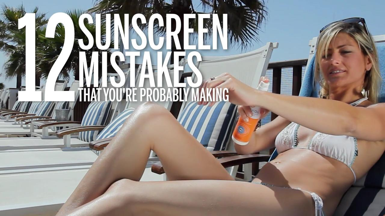 Get serious about sunscreen