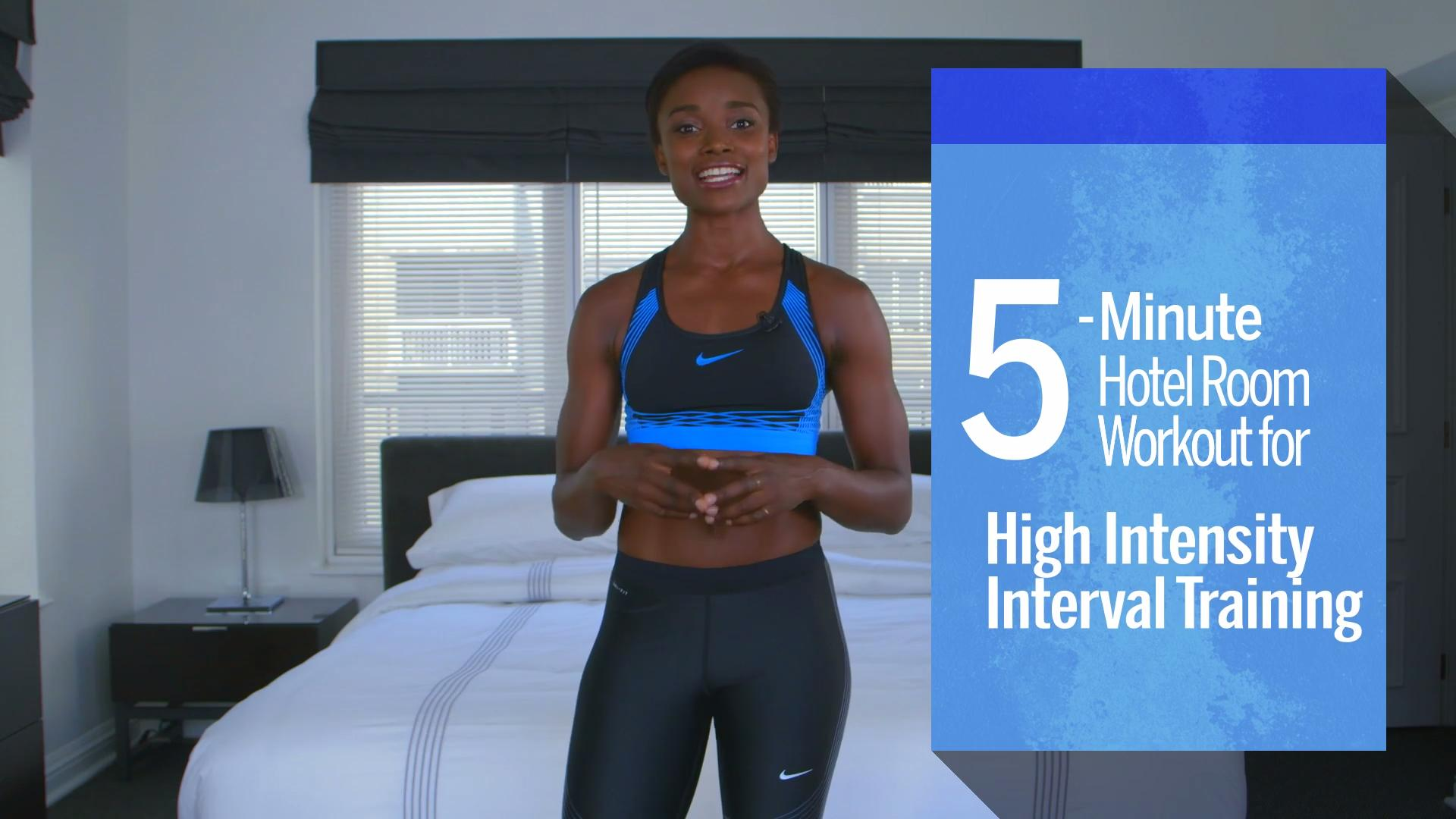 Hotel-friendly HIIT workout