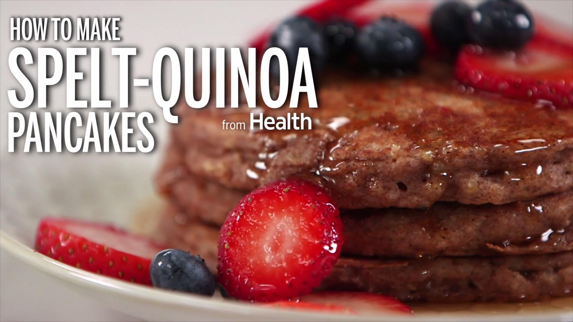 How to Make Spelt and Quinoa Protein Pancakes