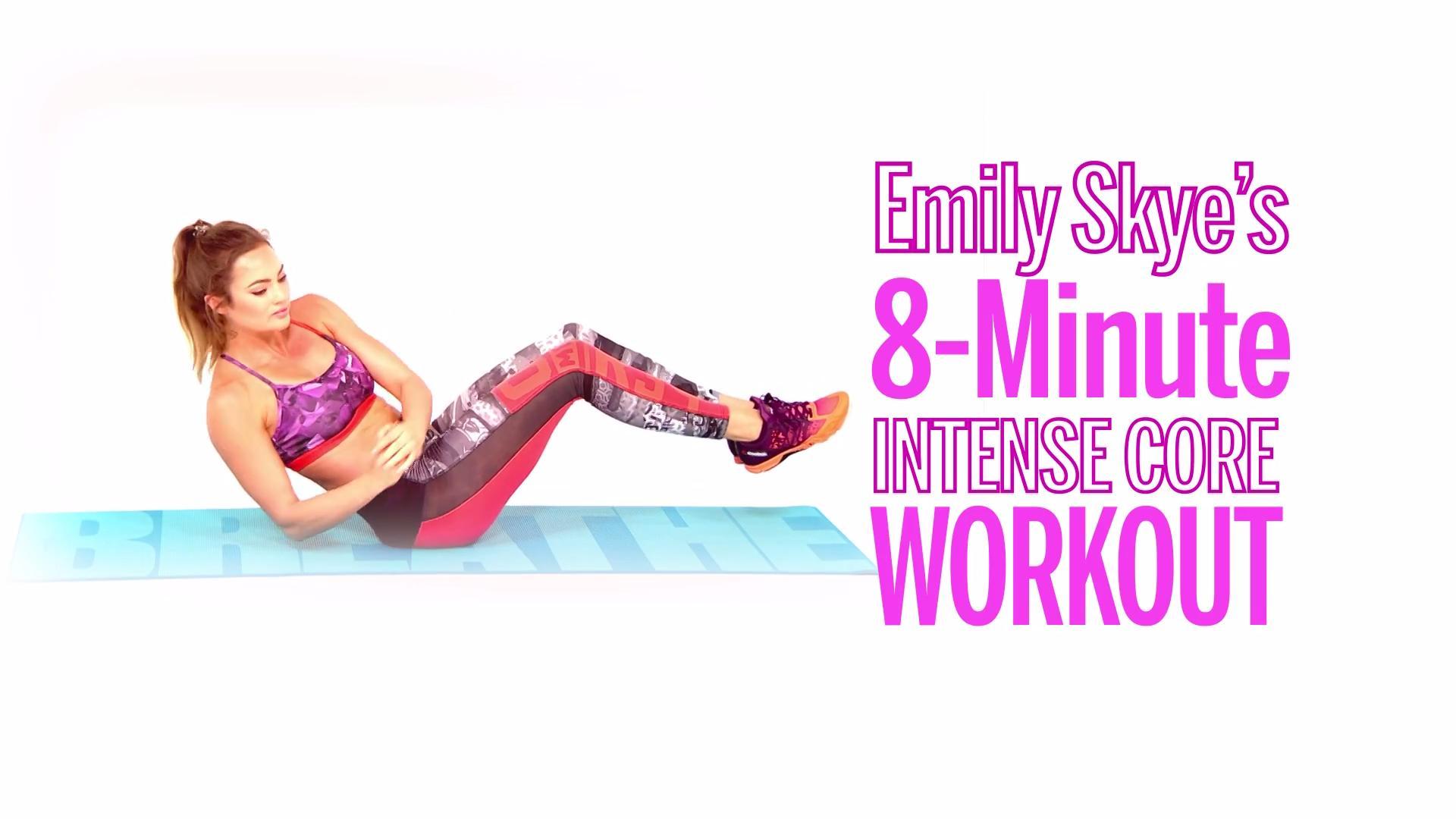 Emily Skye's 8-Minute Intense Core Workout