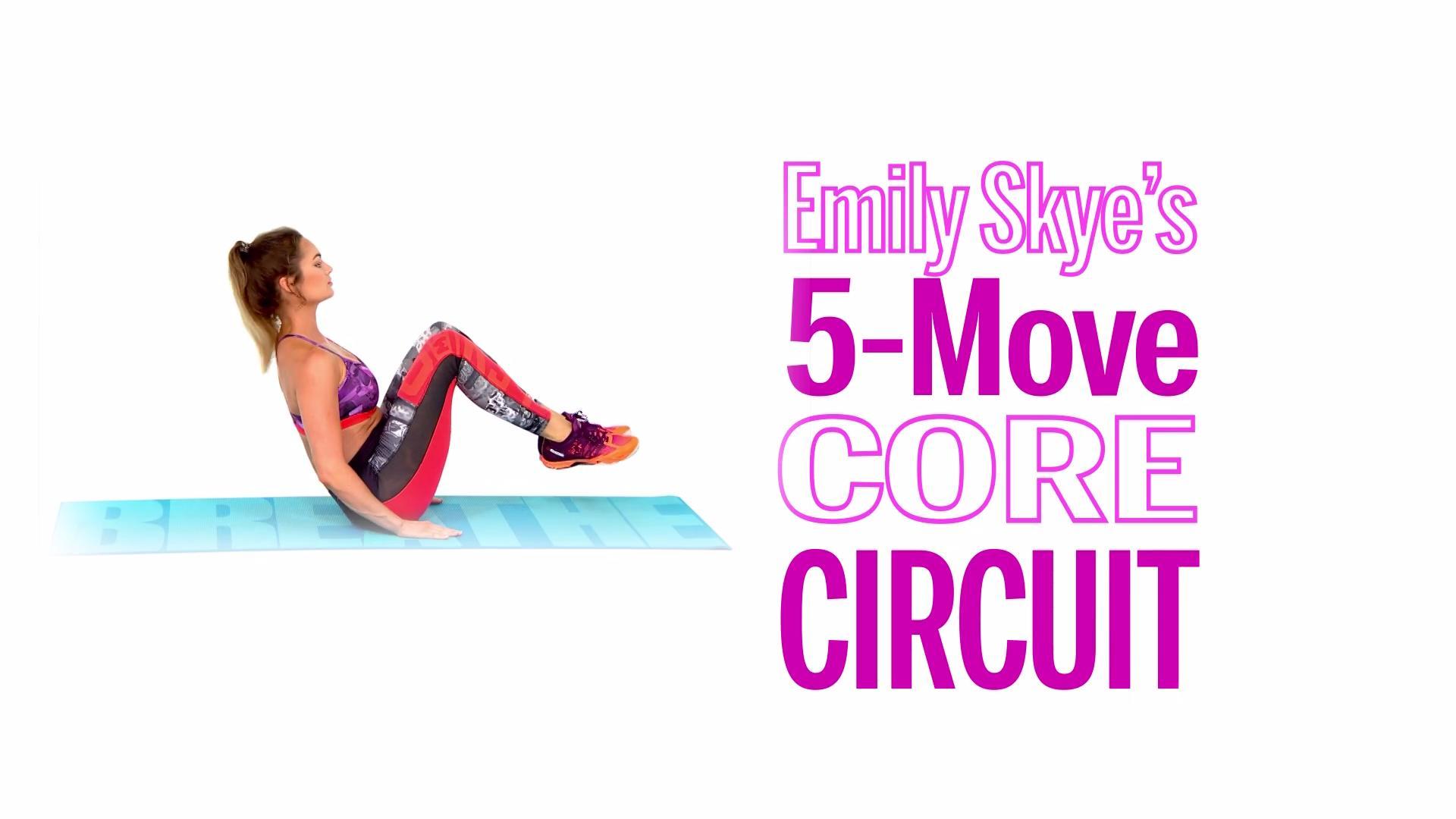 Emily Skye's 5-Move Core Circuit