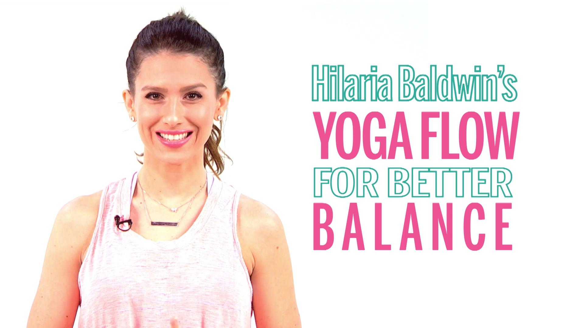 Hilaria Baldwin's Mindfulness Yoga Workout Video