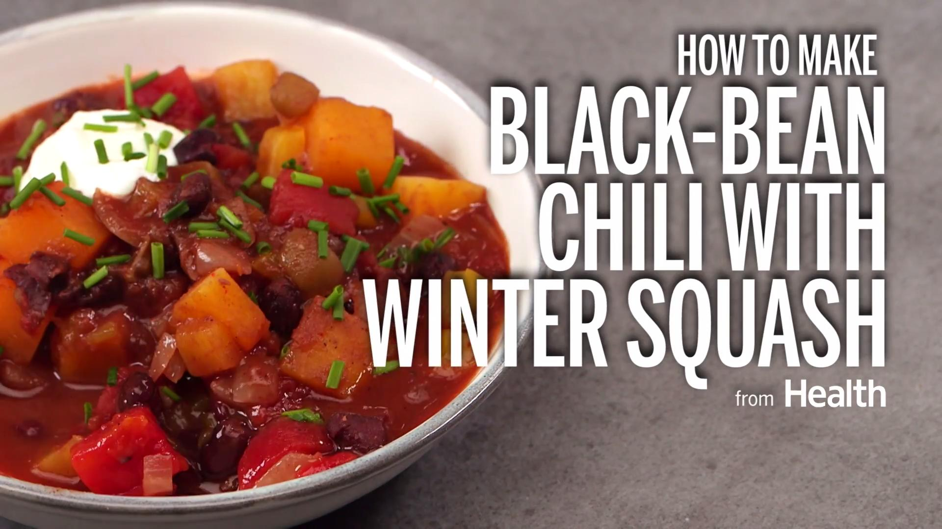Black Bean Chili with Winter Squash