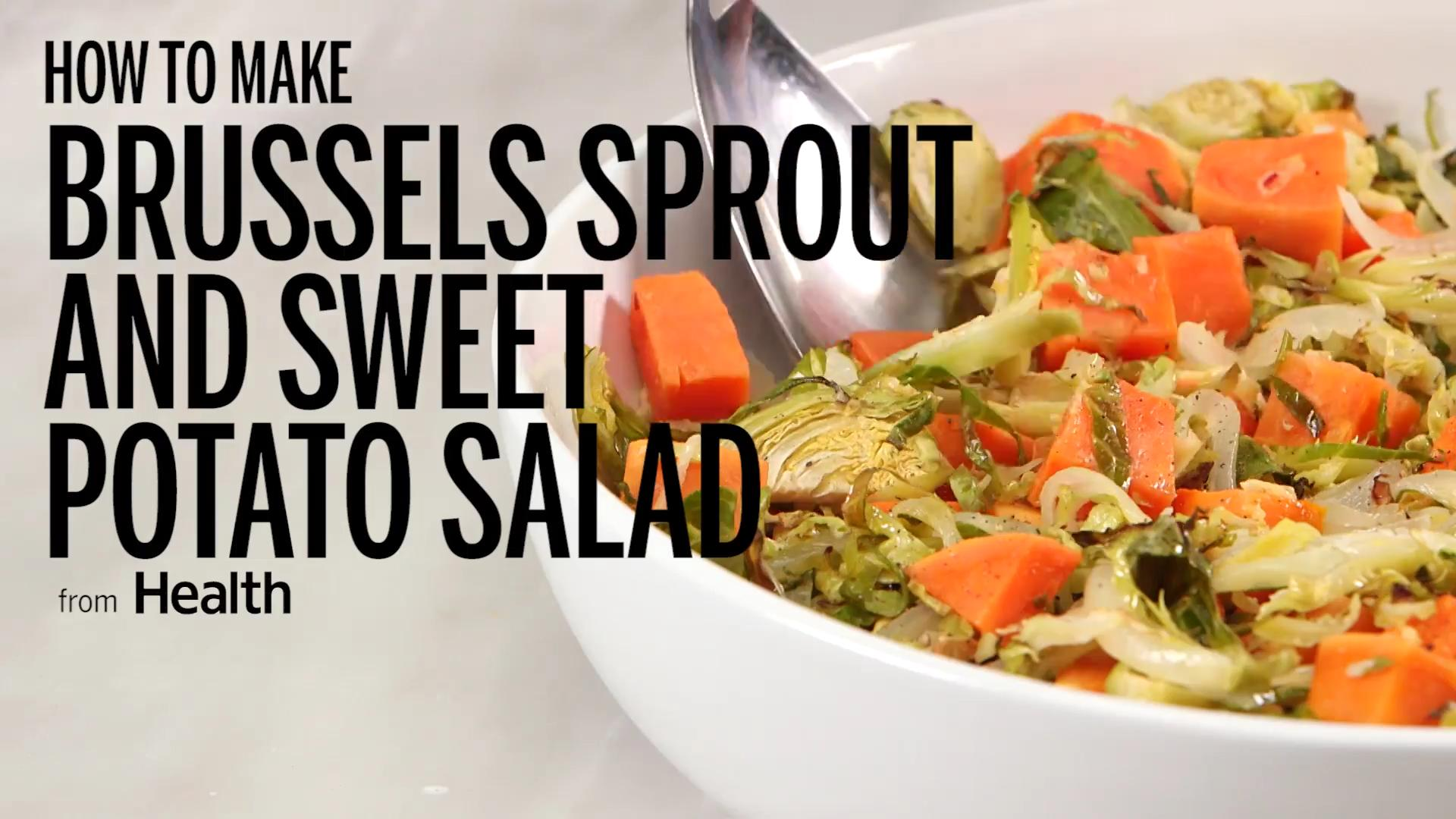 Brussels Sprout and Sweet Potato Salad