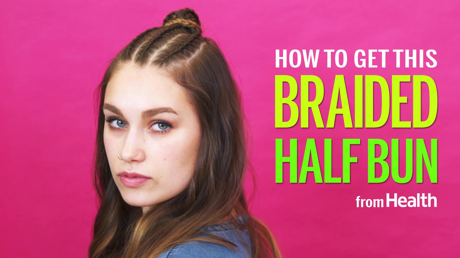 How to do a braided half bun