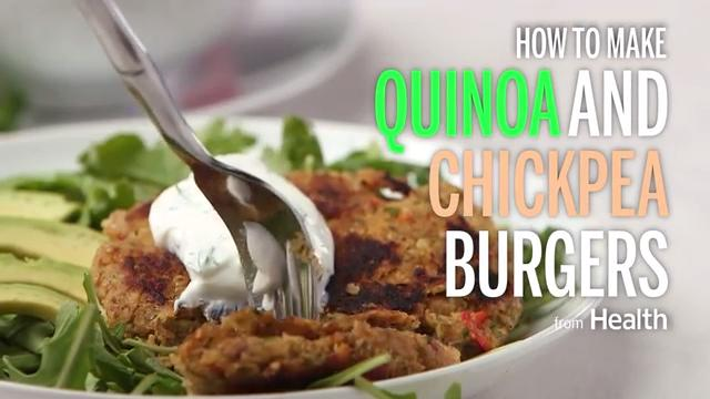 Quinoa and Chickpea Burgers