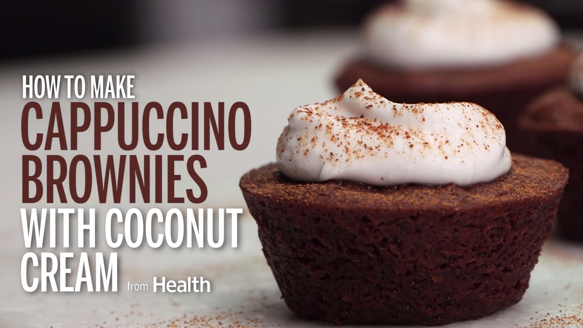 Cappuccino Brownies With Coconut Cream