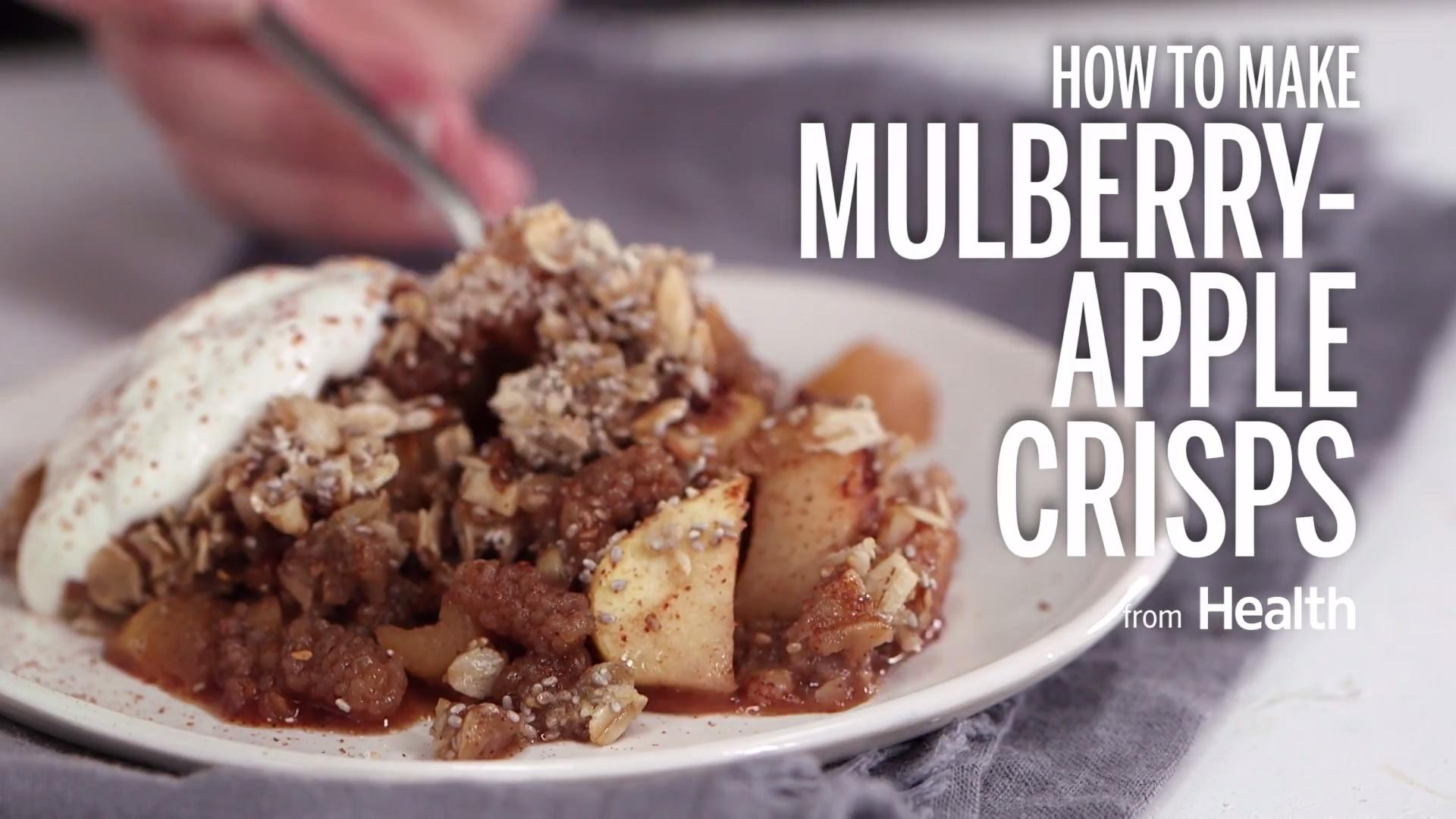 Mulberry-Apple Crisps