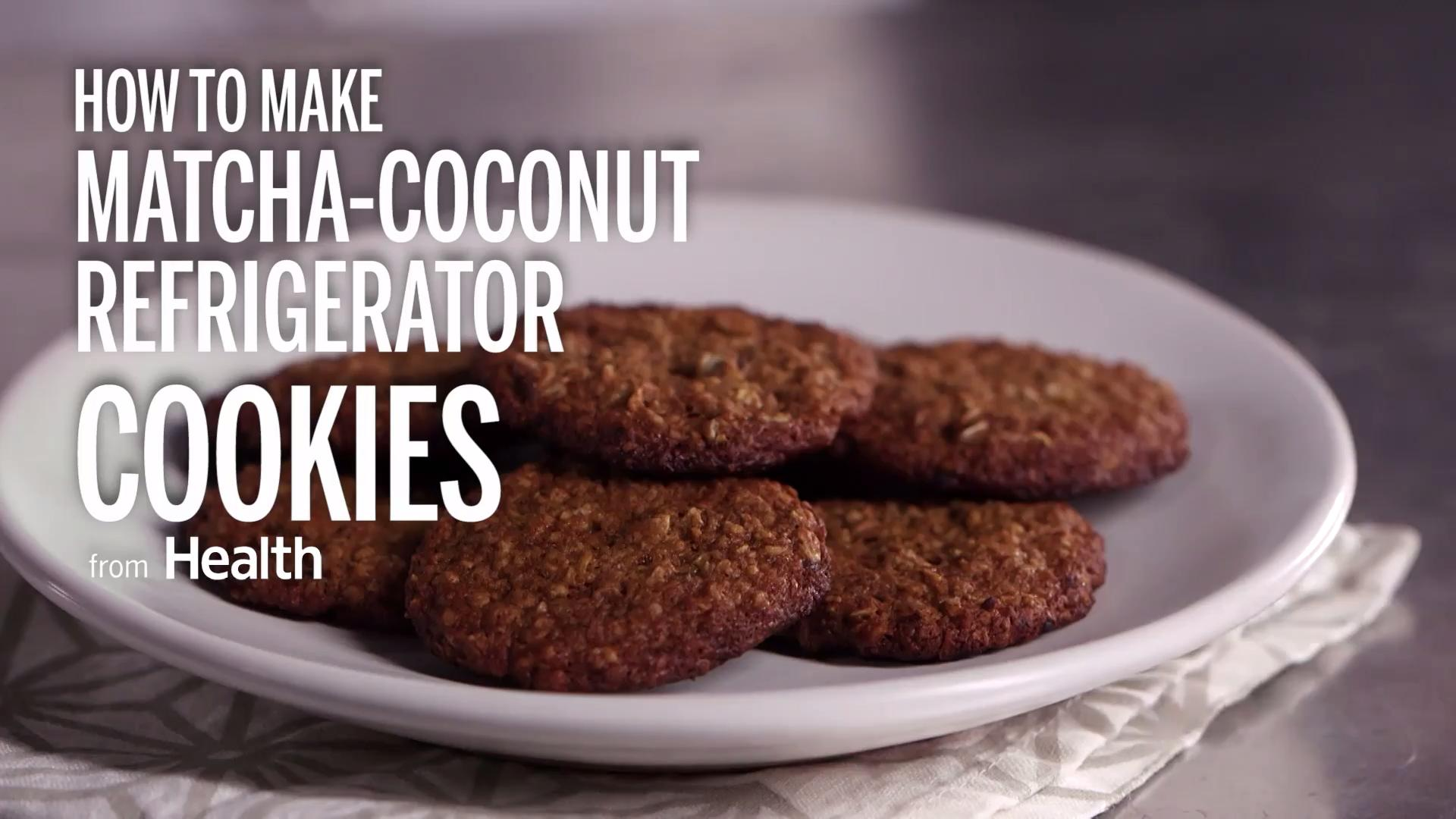 Matcha Coconut Refrigerator Cookies