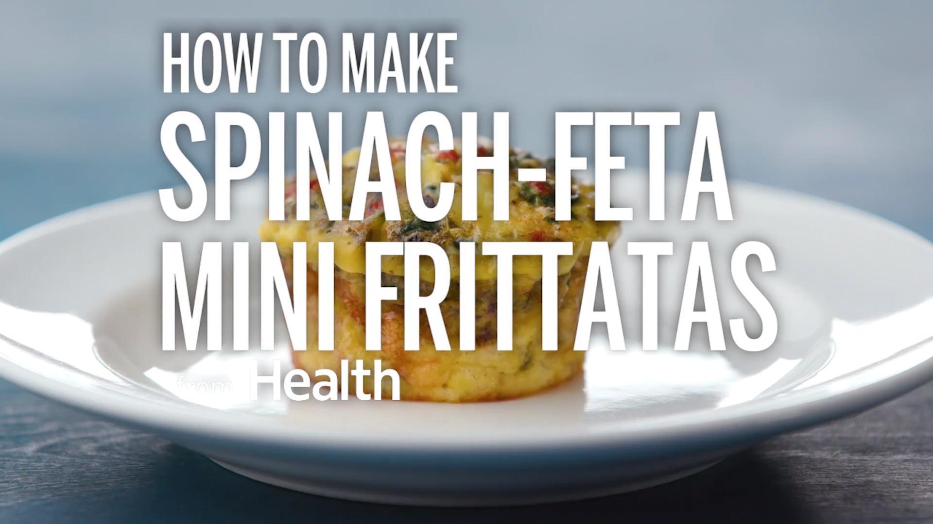 Spinach-Feta Mini Frittatas