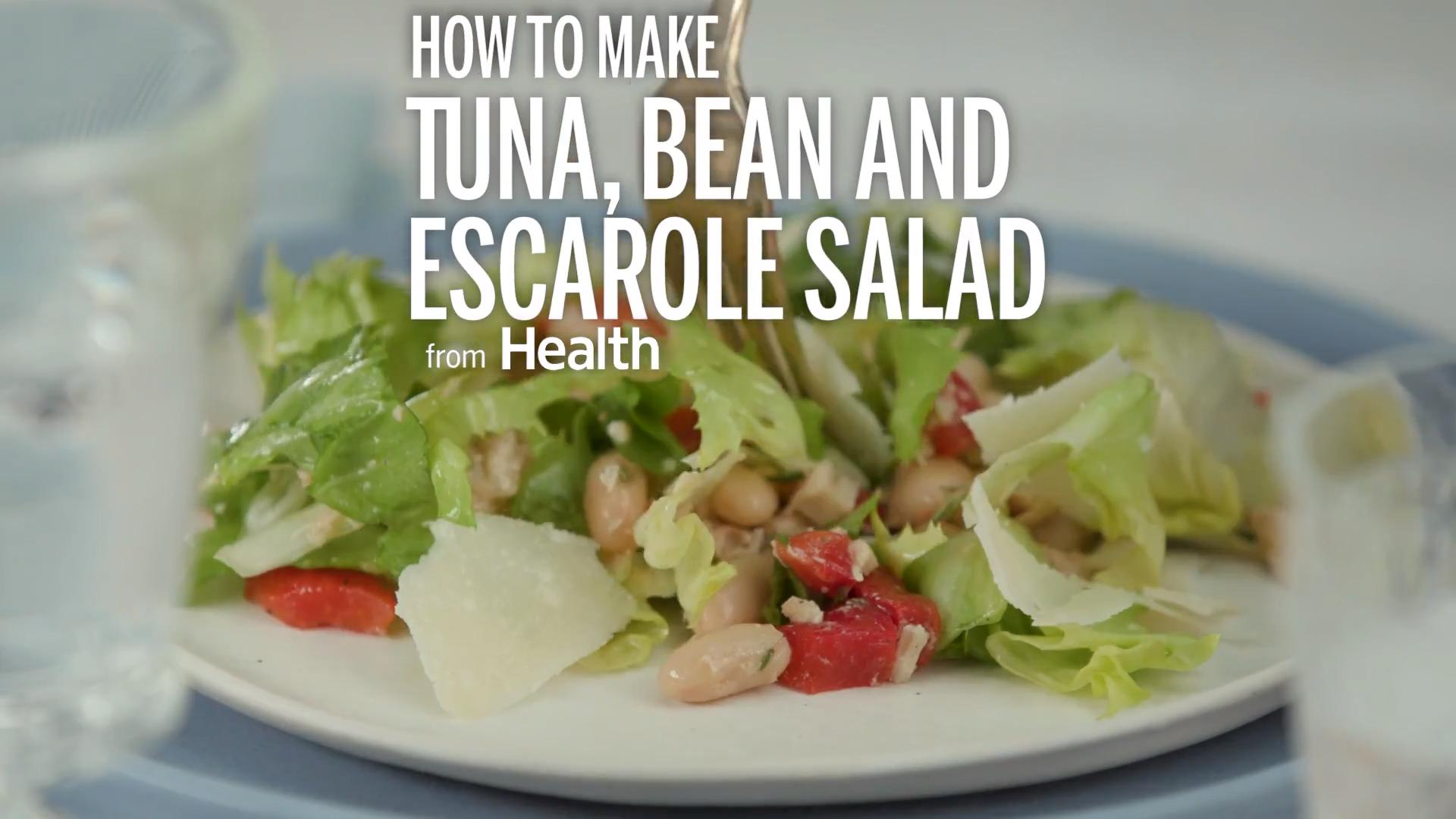 Tuna, Bean and Escarole Salad