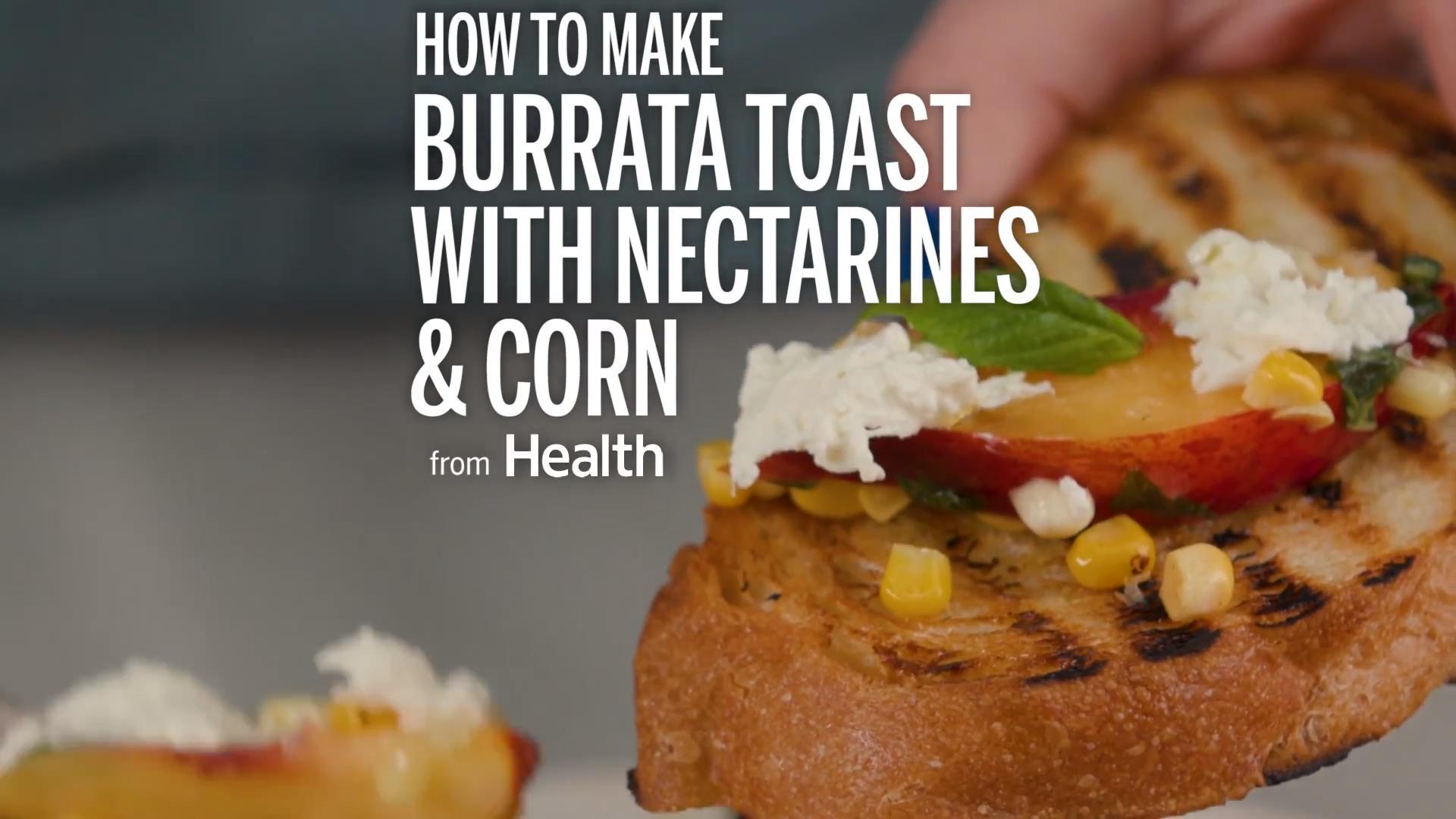 Burrata With Nectarines and Corn