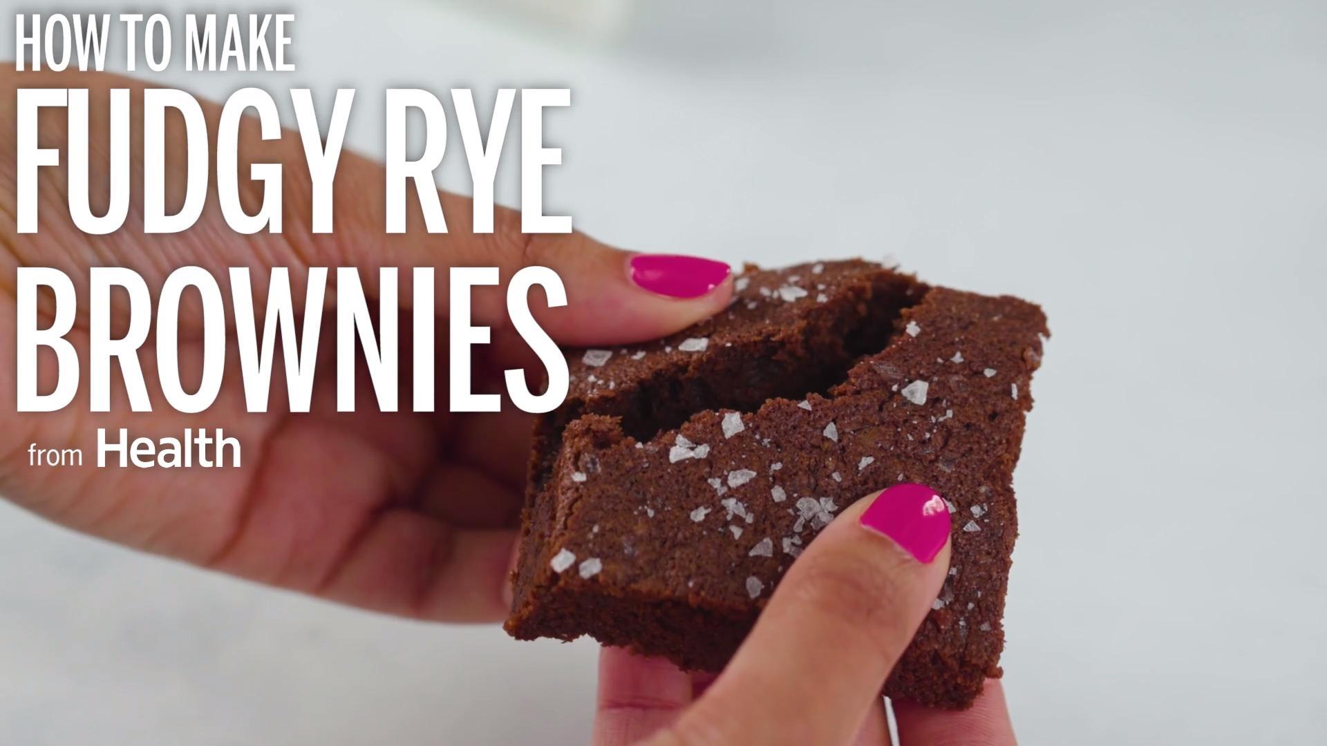Fudgy Rye Brownies