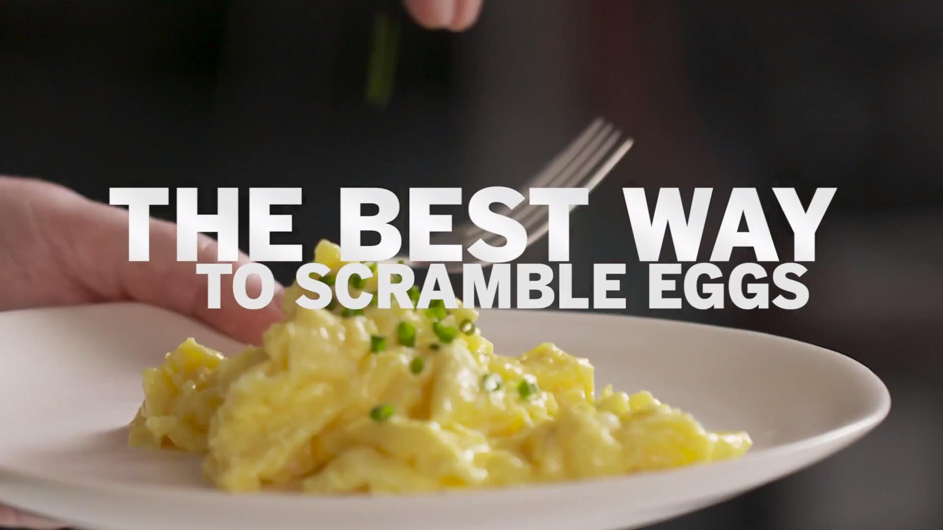 This Is The Best Way To Make Scrambled Eggs Food Wine