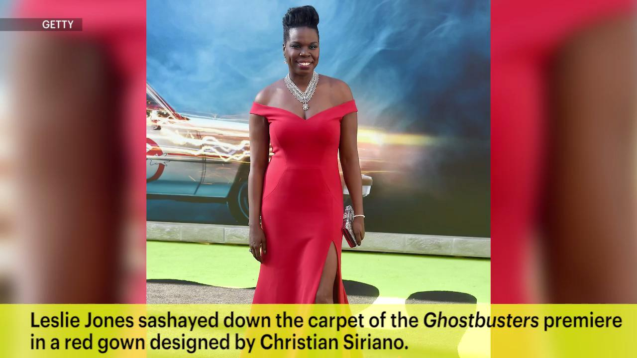 <em>Ghostbusters</em> star Leslie Jones debuts Christian Siriano gown at movie premiere