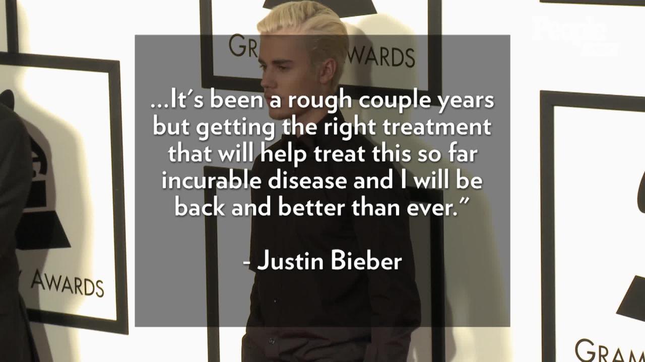 Justin Bieber reveals he's battling Lyme disease in upcoming documentary series
