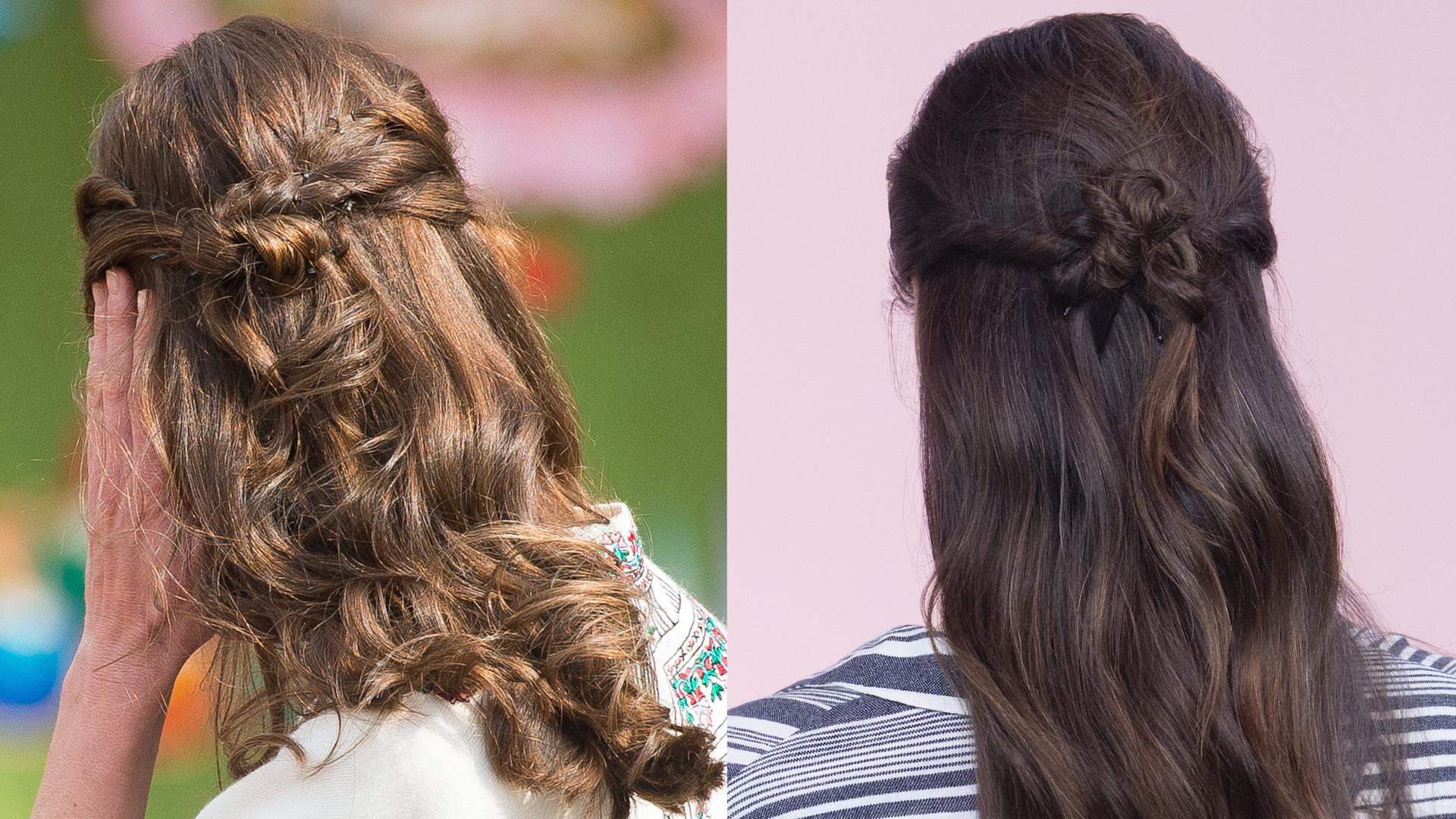 how is kate middleton s hair always so perfect instyle beauty school master kate middleton s signature half up do