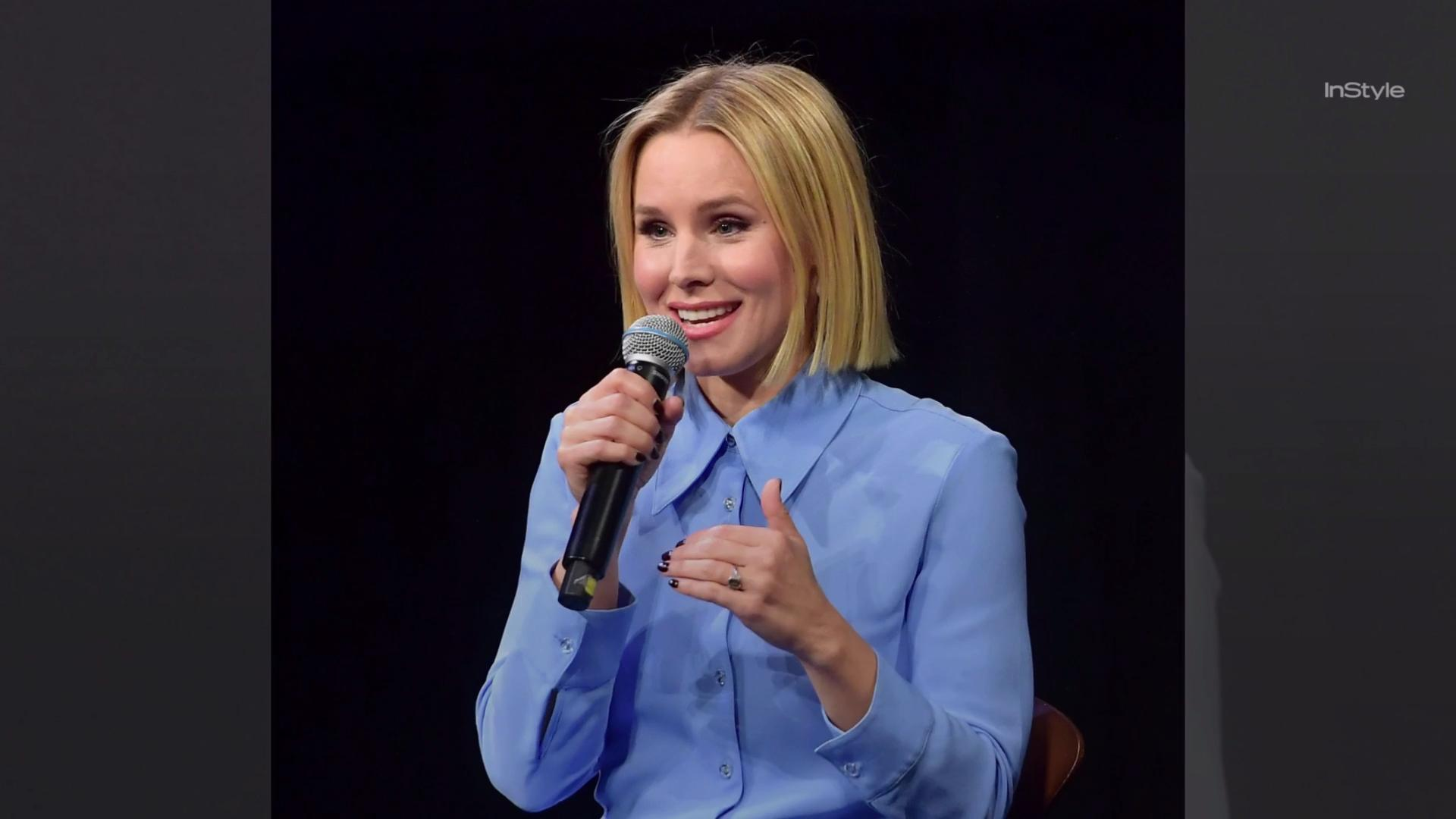 Kristen Bell Debuts A Blunt Bob Haircut Instyle