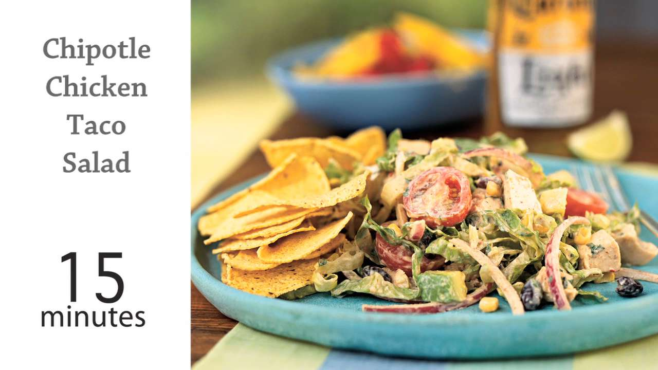 How to Make Chipotle Chicken Taco Salad