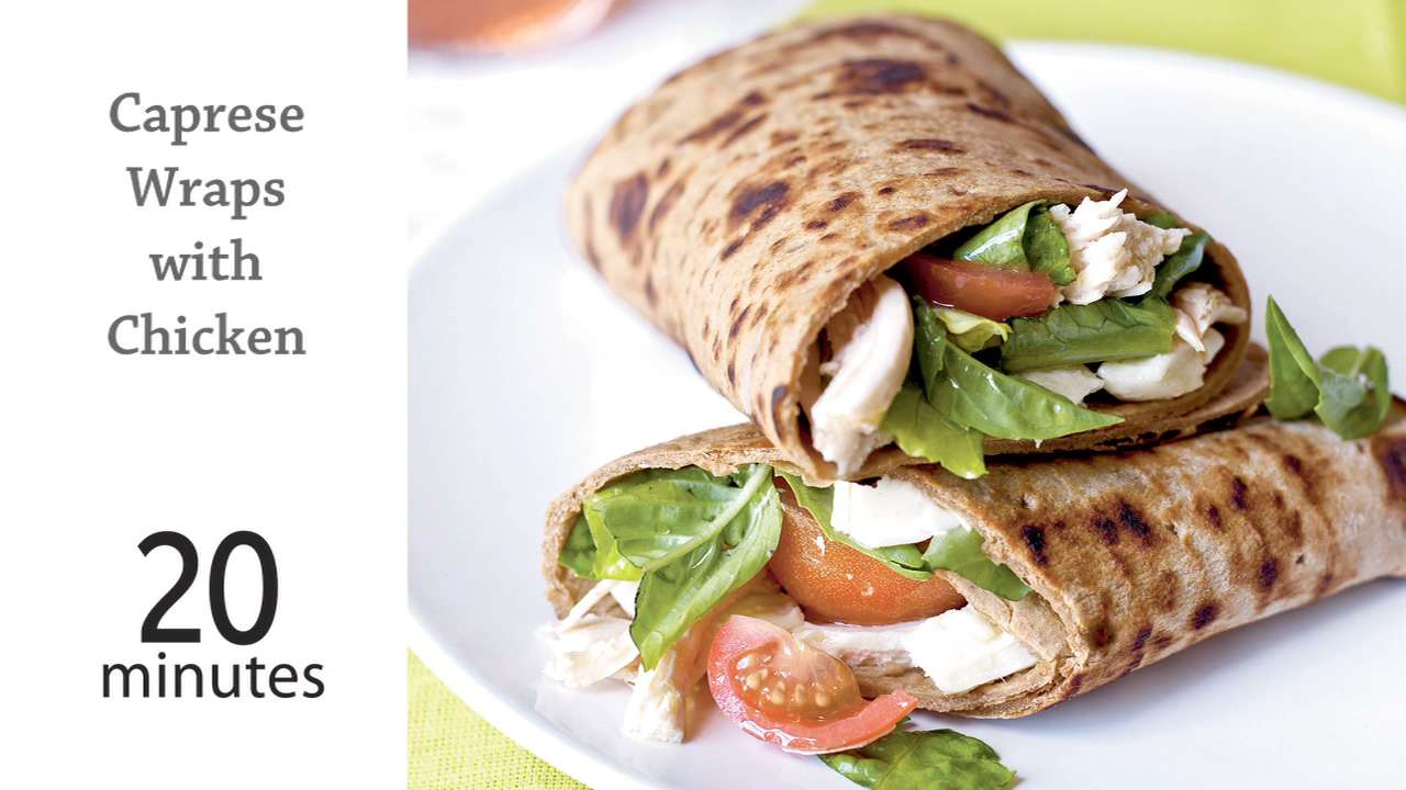 How to Cook Caprese Wraps with Chicken